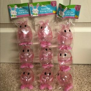 Three Three packs of bunny containers for Easter